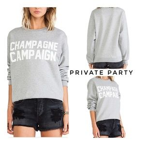 🆕Private Party Champagne Campaign Sweatshirt XS